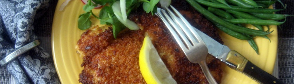 Chicken Schnitzel with Watercress Salad 1