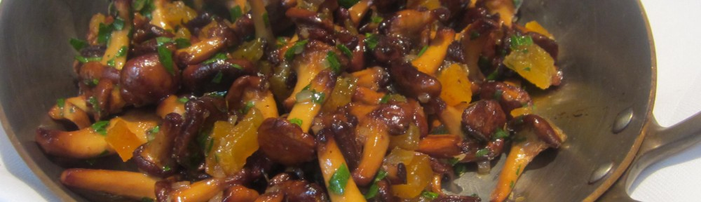 Chanterelles with Diced Apricots from Spring
