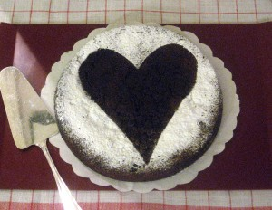 Valentine Dark Chocolate Cake 1