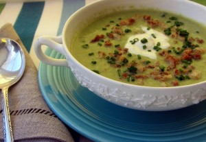 Asparagus Soup with Lemon Creme Fraiche 2