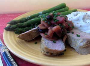 Pork Tenderloins with Rhubarb Chutney 4