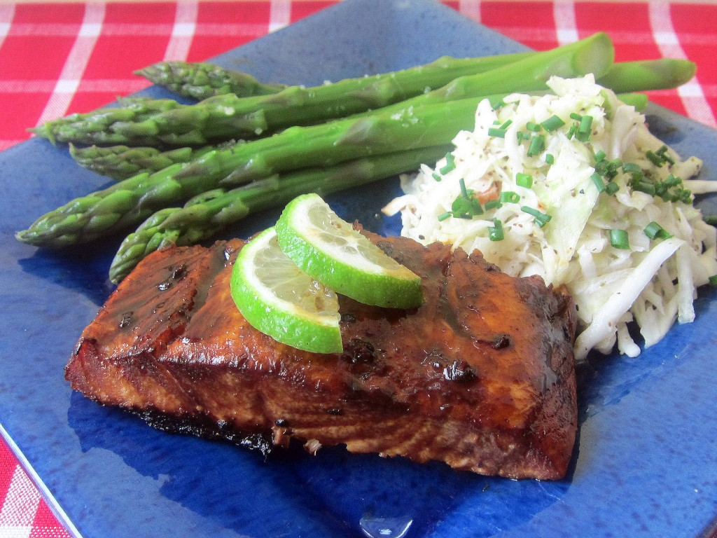 Barbecued Salmon with a Mahogany Glaze 1