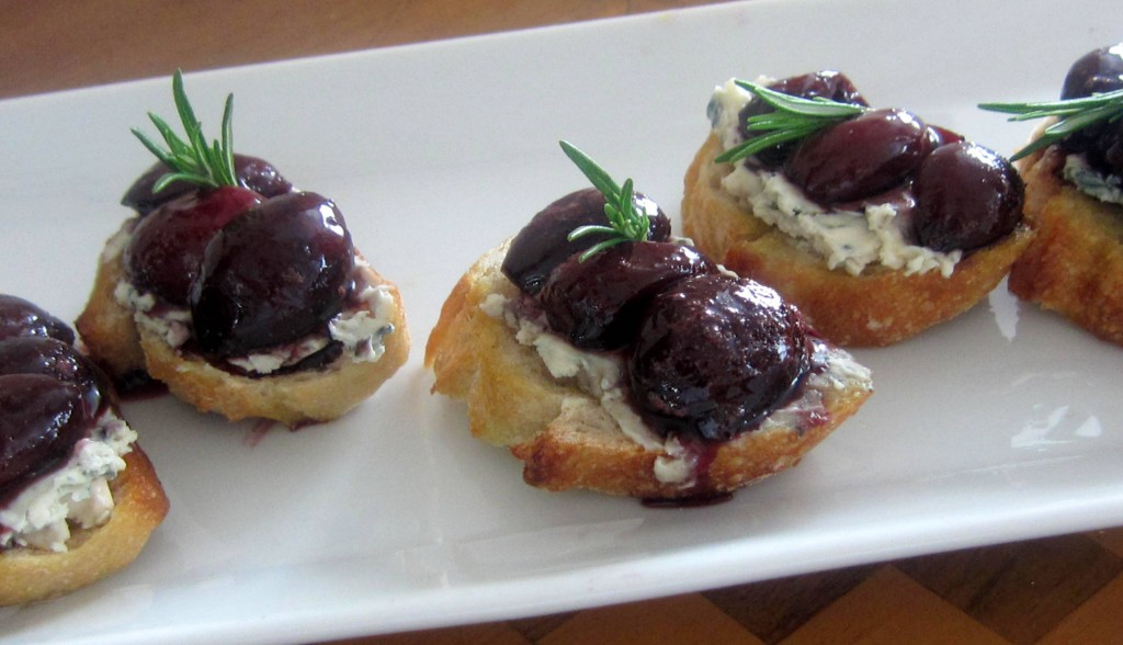 Summer Cherry and Cheese Tartines 3