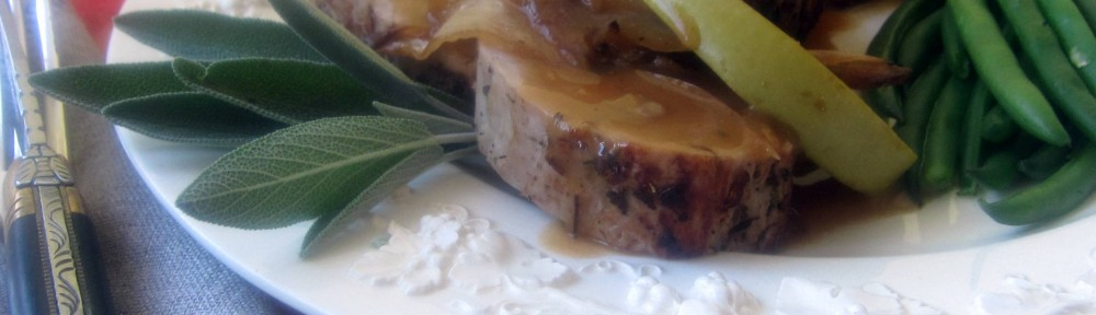 Cider Roasted Pork Tenderloin with Apples, Shallots 1