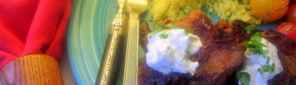 Lamb Chops with Cucumber Yogurt Sauce 1