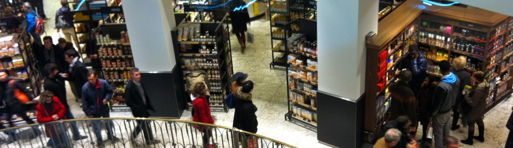 Shoppers on the Main Level of La Grande Epicerie