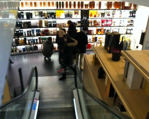 Wine and Spirits on the lower floor