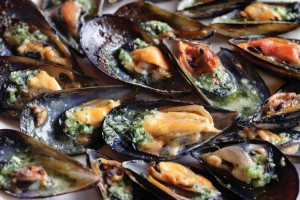 Grilled Mussels with Snail Butter