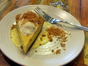 Key Lime pie with buttermilk whipped cream at Peche
