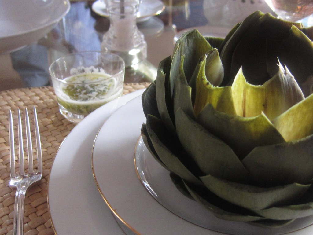 Artichokes with Lemon Mint Butter 1 Paris 3648x2736