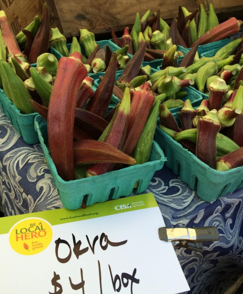 Okra at the Amherst Farmers' Market  2448x3264