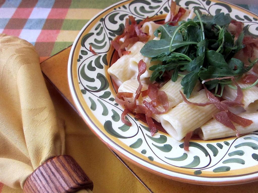 Rigatoni with Parmesan Cream, Prosciutto, Arugula 3  1824x1368 1824x1368