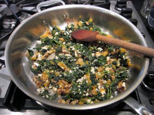 Kale with Arpicots, Walnuts, and Feta in a Skillet 1 1824x1368