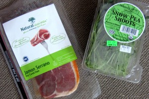 Serrano Ham and Snow Pea Shoots from Whole F 1 3431x2298