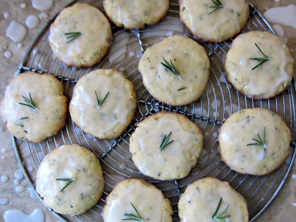 Lemon Rosemary Cookies on baking rack 1 3648x2736
