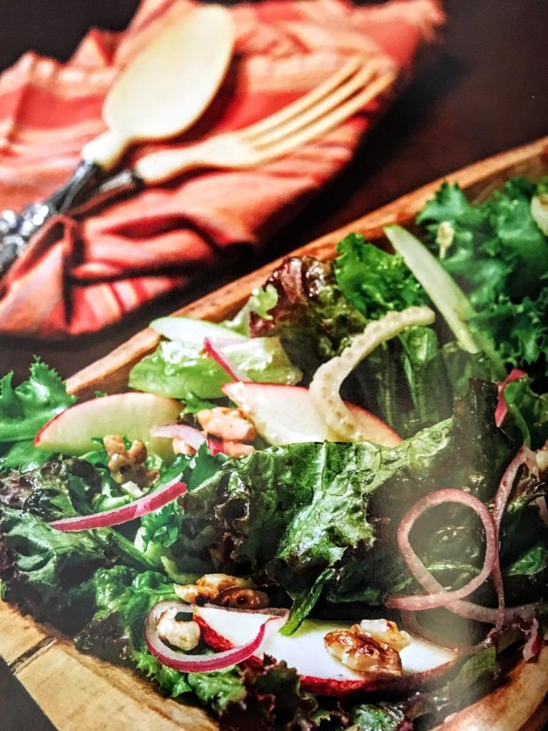 Oakleaf and Apple Salad with Honey Vinaigrette