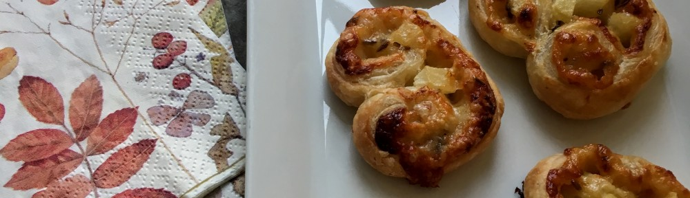 White Cheddar and Pear Palmiers with Cumin