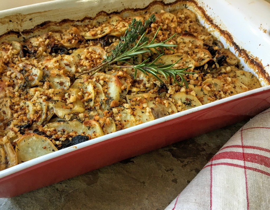 Golden Potato and Mushroom Gratin