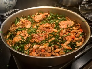Southern Cassoulet in the skillet